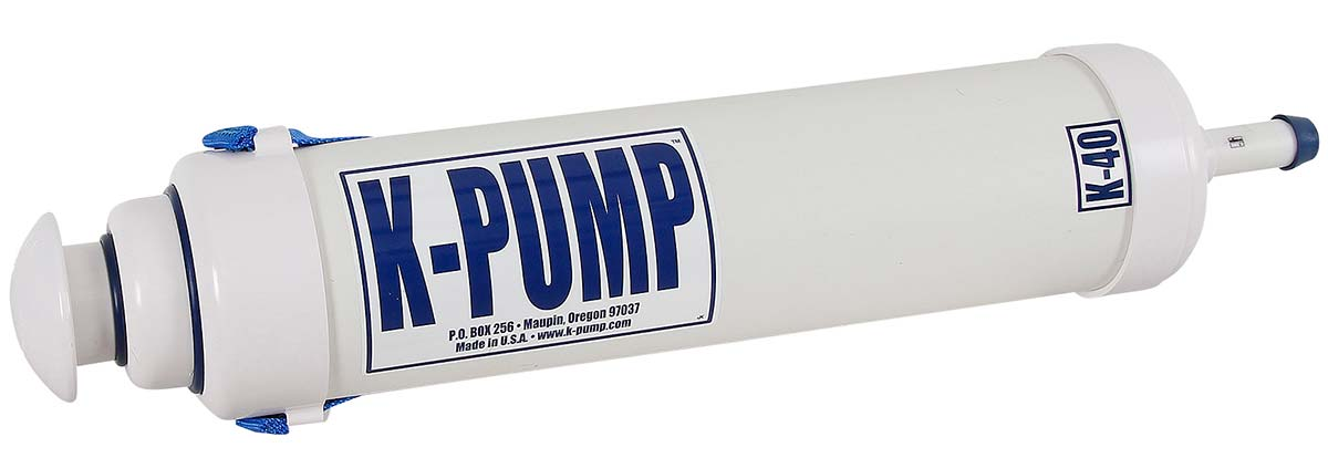 K -Pump K40 two stage hand pump for rafts, inflatable kayaks...