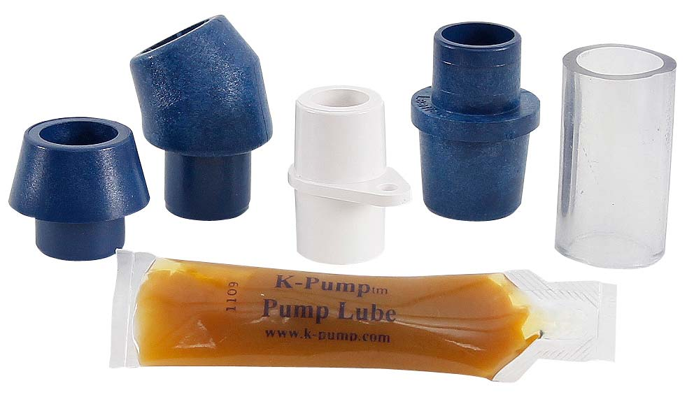 K-Pump K200 Hand Pump Valve Adapters and Lube