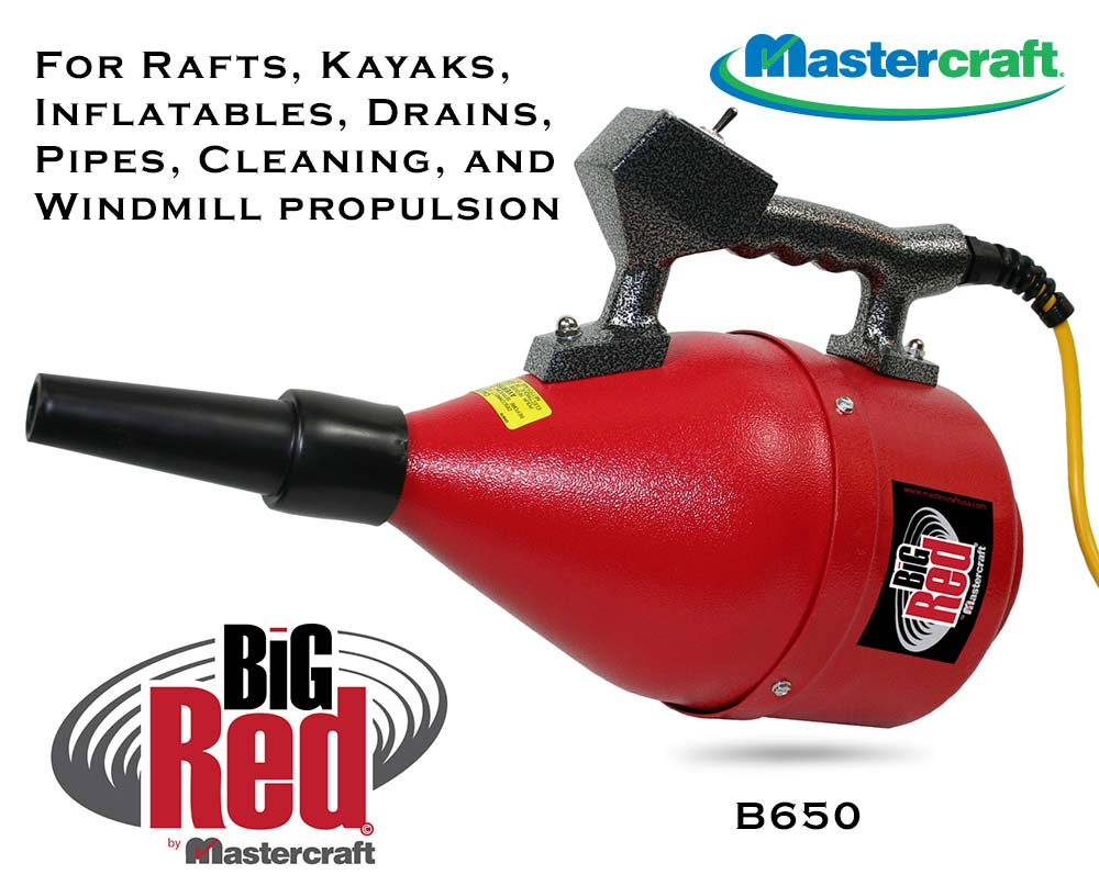 Mastercraft Big Red Hand Blower B650 Inflate Rafts, Kayak, Boats…