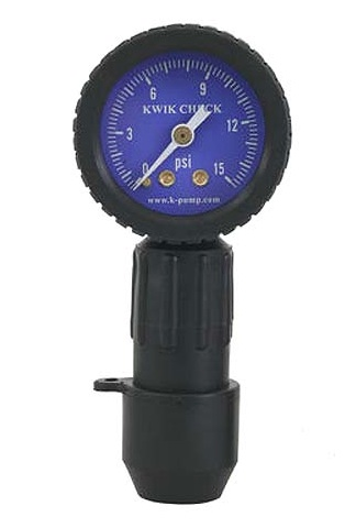 K-Pump Kwik Check Pressure Gauge for Rafts and IKs